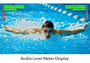 Audio Level Meter Display